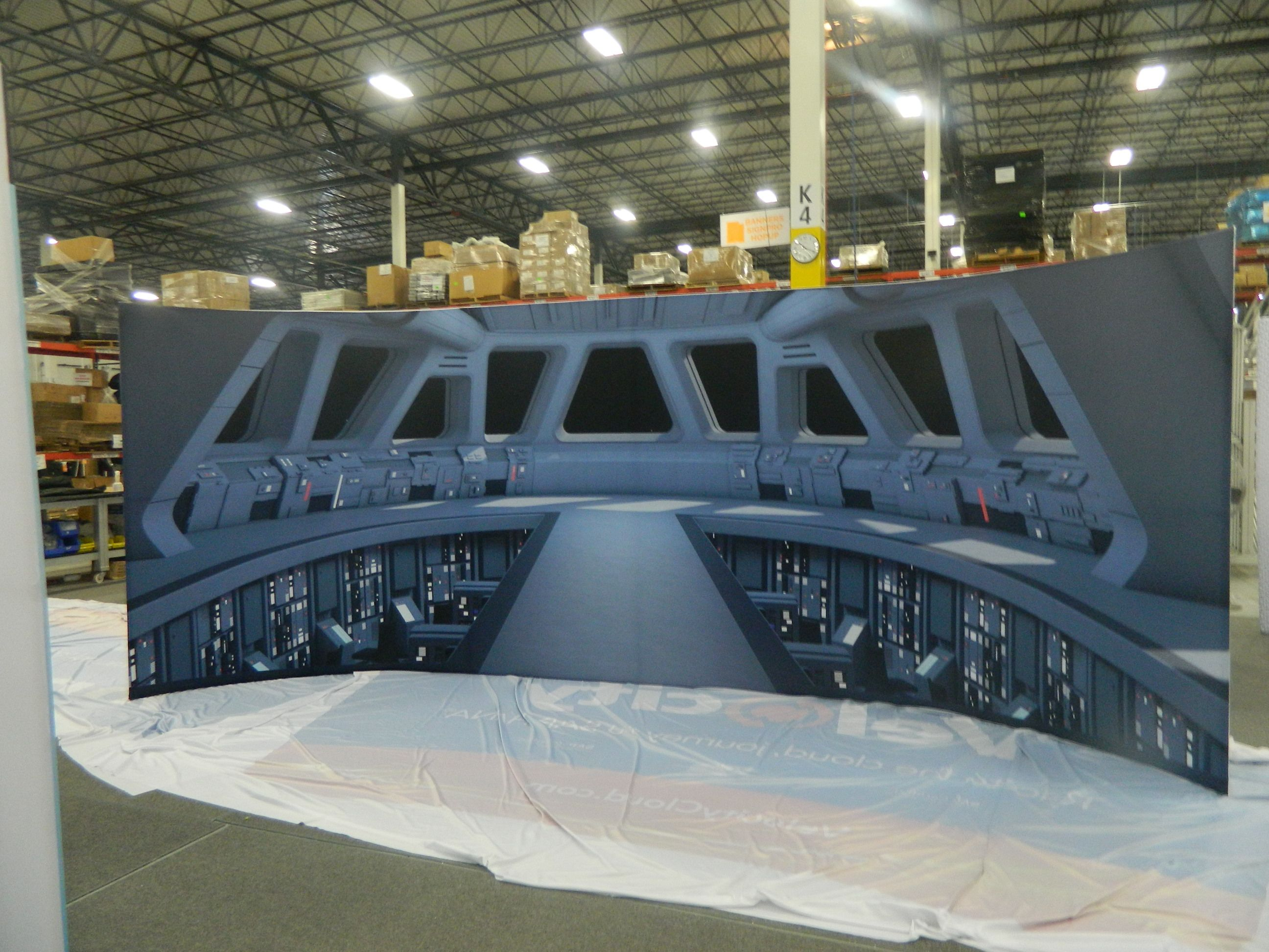 Stretch Fabric 2d Booth Display Big Printing Las Vegas