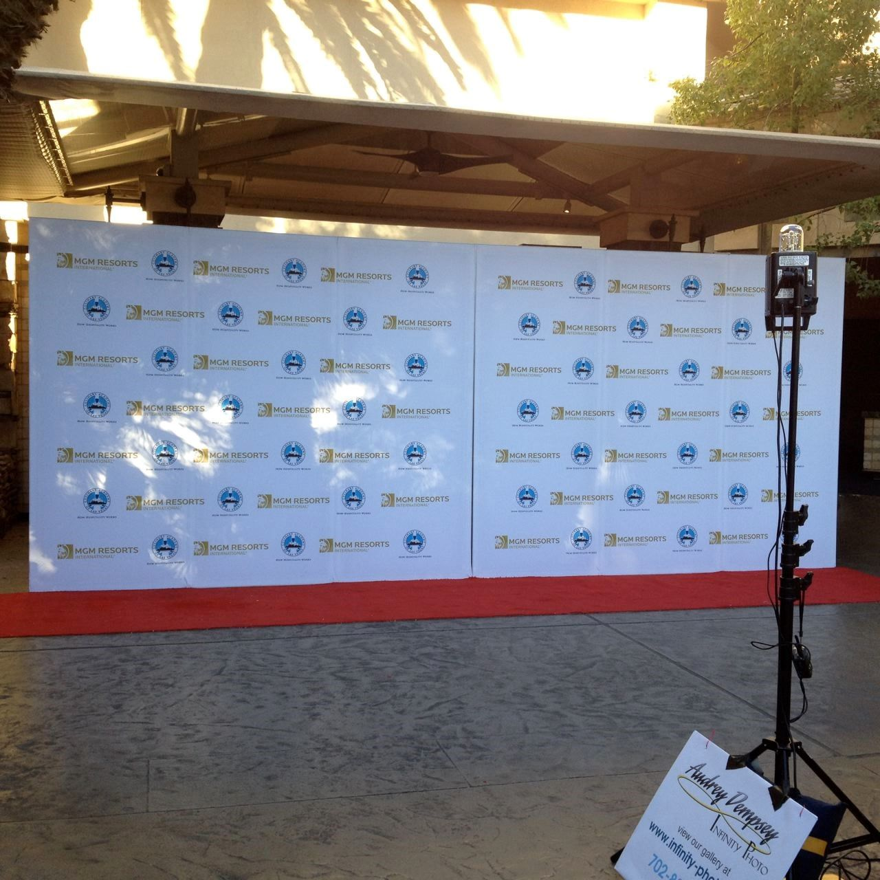 Freestanding SEG Fabric Step and Repeat Wall