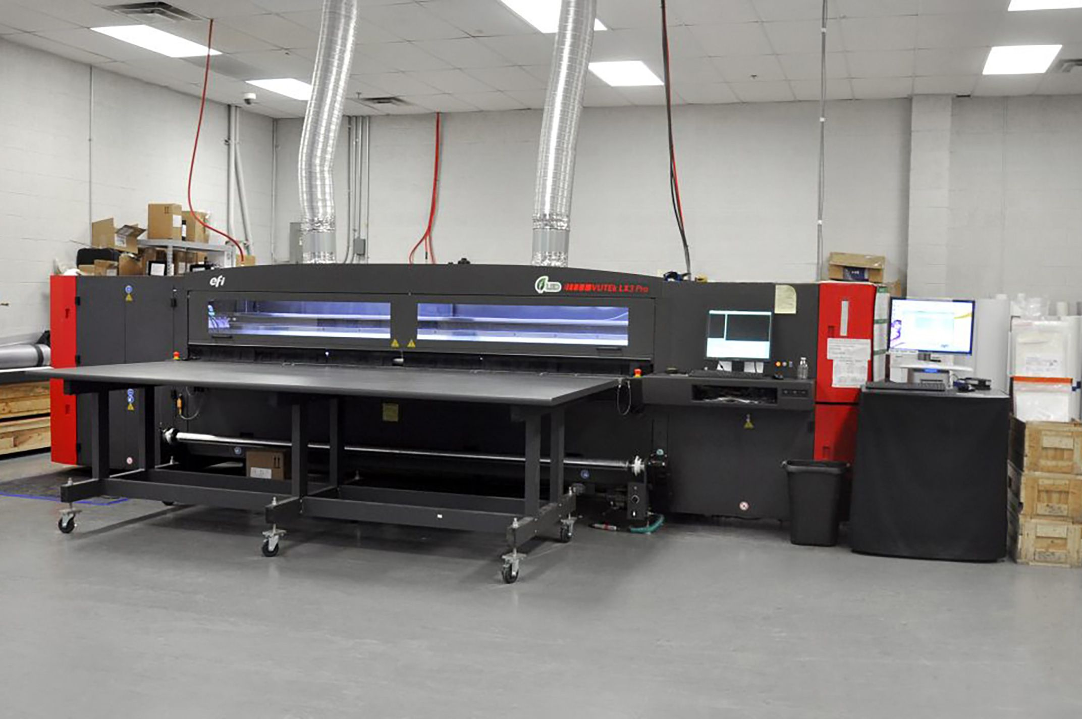 EFI LX3 Pro 10ft Flatbed LED inkjet printer