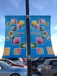 Outdoor Display Pole Banner