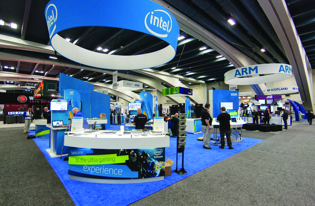 Trade Show Graphic Display for Intel