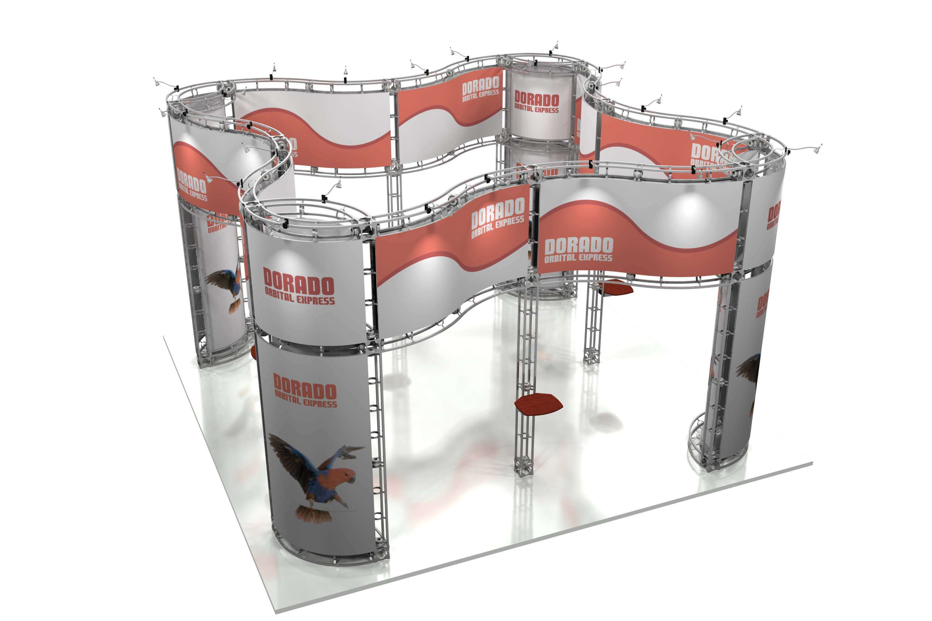 Custom Trade show display modular truss system