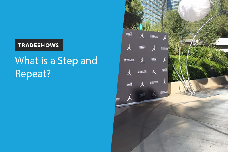 step and repeat at an outdoor event