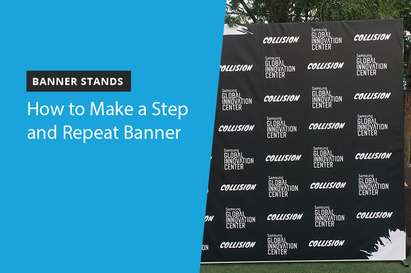 step and repeat banner at an outdoor event